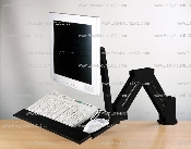 LCD Monitor/Keyboard Stand/Wall Mount Black (002-0003B)