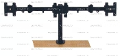 "Triple LCD Monitor Stand Desktop Clamp up to 24"" (002-0010)"