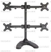 "Quad LCD Monitor Stand Free Standing up to 24"" (002-0015)"