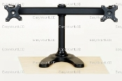 "Deluxe Dual LCD Monitor Stand Free Standing up to 28"" (002-0018)"
