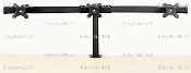 "EZM Deluxe Triple Monitor Mount Stand Clamp up to 28"" (002-0019)"