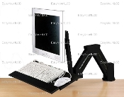 EZM Monitor/Keyboard Stand/Wall Mount Black (002-0003B)