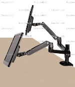 EZM Dual Adjustable Monitor Mount Clamp Open (002-0031 Open)