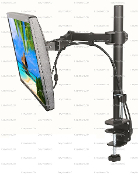 "EZM Single Monitor Mount Stand Desktop Clamp upto 27"" (002-0036)"