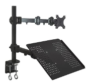 EZM Notebook/Monitor Mount Arm Stand Desktop Clamp(002-0013)