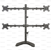 "EZM Quad Monitor Mount Stand Free Standing up to 27"" (002-0015)"