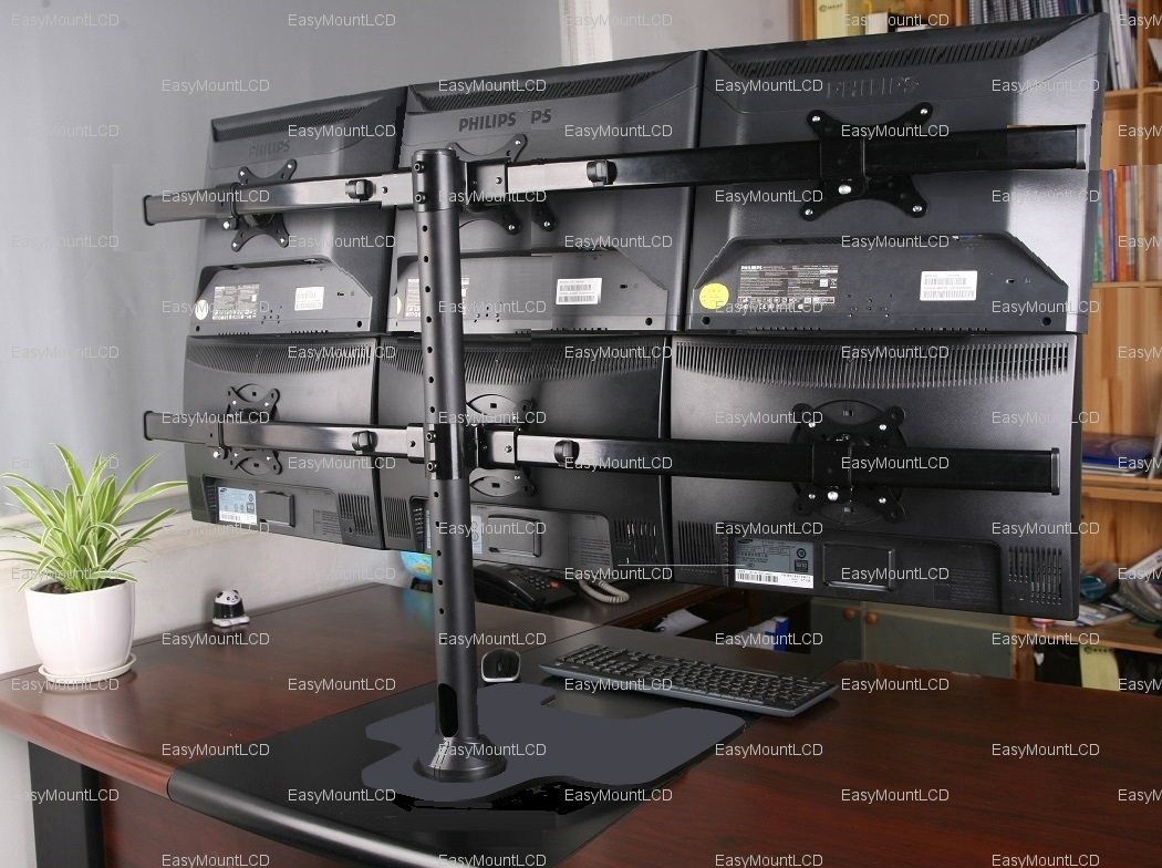 Deluxe Hex Lcd Monitor Stand Free Standing Up To 28 Quot 002