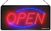 "Ultra Bright ANIMATED LED OPEN Sign 22"" x 12"" (004-0003)"
