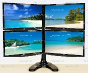 "EZM Deluxe Quad Mount Stand Free Standing up to 28"" (002-0021)"