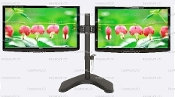 "EZM Basic Dual Monitor FreeStanding upto 27"" Open(002-0009 Open)"
